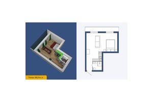 Продається 1-кімнатна квартира 35.3 кв. м у Кропивницькому