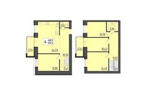Продається 4-кімнатна квартира 113.3 кв. м у Тернополі
