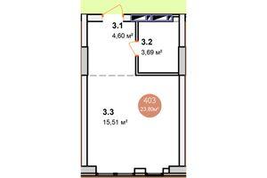 Продается 1-комнатная квартира 30.39 кв. м в Киеве