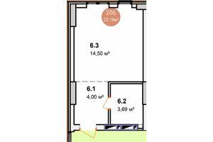 Продается 1-комнатная квартира 30.35 кв. м в Киеве