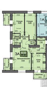 Продается 3-комнатная квартира 80 кв. м в Сумах