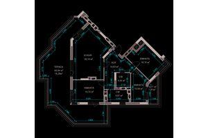 Продается 3-комнатная квартира 122 кв. м в Ирпене