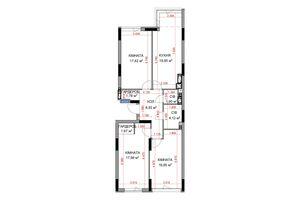 Продается 3-комнатная квартира 90 кв. м в Ирпене