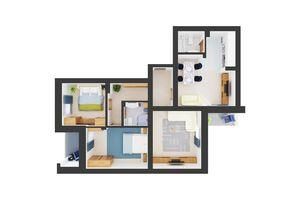 Продается 3-комнатная квартира 95.64 кв. м в Броварах