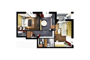 Продается 2-комнатная квартира 66.2 кв. м в Броварах