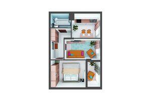 Продается 2-комнатная квартира 54 кв. м в Броварах