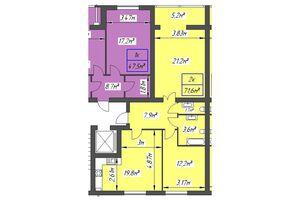 Продается 2-комнатная квартира 71.6 кв. м в Ивано-Франковске