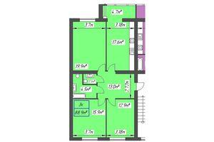 Продается 3-комнатная квартира 88.9 кв. м в Ивано-Франковске