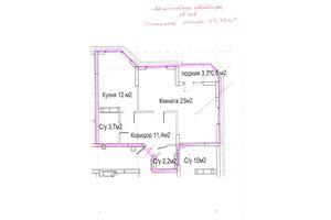 Продается 2-комнатная квартира 53.95 кв. м в Вышгороде