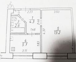 Продается 1-комнатная квартира 26 кв. м в Сумах