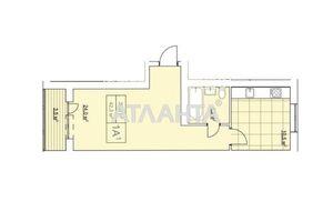 Продається 1-кімнатна квартира 42.3 кв. м у Ірпені