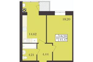 Продается 1-комнатная квартира 41.47 кв. м в Хмельницком