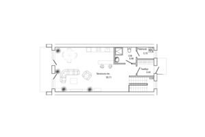 Продается дом на 3 этажа 197.9 кв. м с балконом