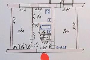 Продается 2-комнатная квартира 46 кв. м в Луцке
