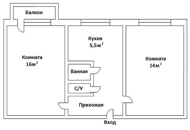 Продам 2-х комнатную квартиру, Сумы, ул. Роменская