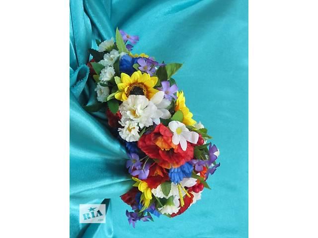 бу Венок украинский из искусственных цветов в Киеве