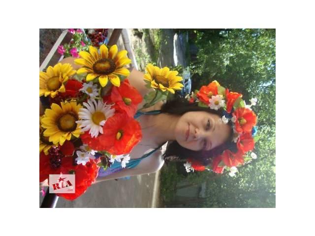 купить бу Украинский венок, венок из цветов,венок из полевых цветов в Киеве