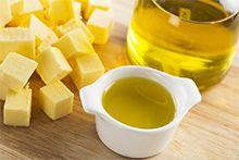 Растительное и сливочное масло, жиры