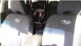Фото 3 Авточехлы EMC-Elegant Classic EUR (Автоткань) (Черный + Серый) для Dacia Logan