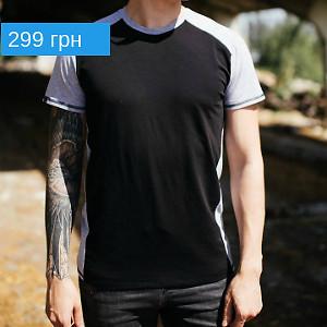 Чёрно-серая футболка