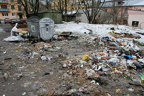 мусор, двор