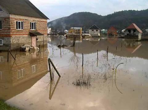 затопленный населенный пункт