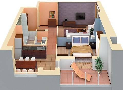 преобладают двухкомнатные квартиры