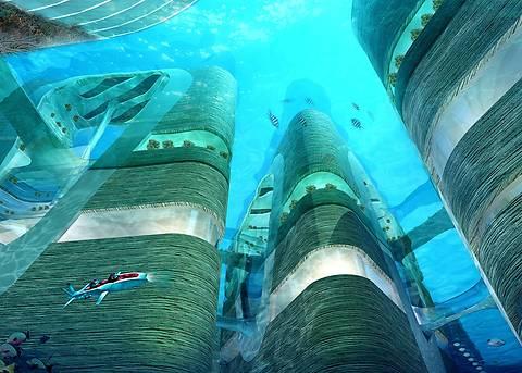 В Китае построят мегаполис с небоскребами под водой
