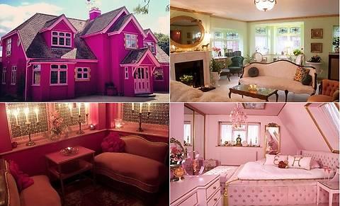 Англичанка построила дом своей мечты в стиле Барби (фото)