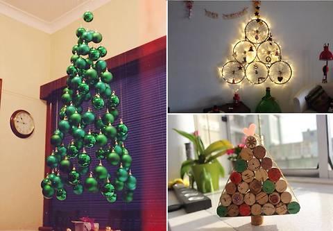 10 оригинальных новогодних елок, сделанных своими руками