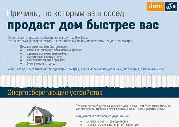 Инфографика: как быстрее продать дом
