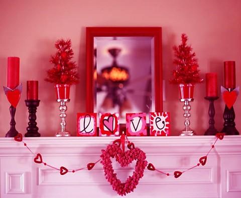 Как украсить комнату влюбленных