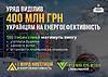 400 млн грн выделено на энергоэффективность
