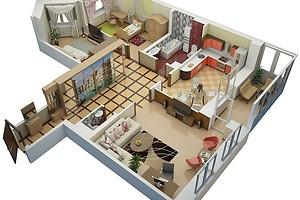 Перепланировка трехкомнатной квартиры: 5 вариантов