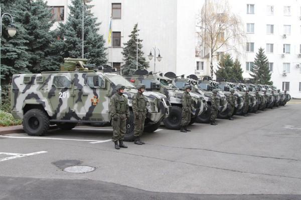 В Нацгвардию вступило 10 новых бронемашин КрАЗ Спартан