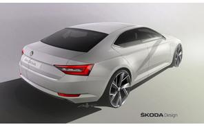 Новый Skoda Superb показался сзади