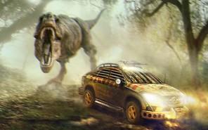 Mercedes-Benz GLE подготовили к встрече с динозаврами