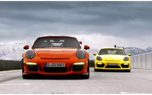 Гонки в горах: Porsche 911 GT3 RS и Cayman GT4
