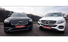 Видео-тест: Volvo XC90 против Mercedes GLE. Очная ставка