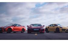 Видео: Acura NSX, Nissan GT-R и Porsche 911 Turbo сравнили в скорости