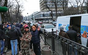 Владельцы авто на иностранной регистрации блокируют центр Киева