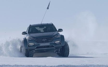 Кроссовер Hyundai Santa Fe стал первым авто, пересекшим Антарктиду
