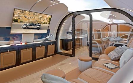 На борту самолета: Компания Pagani создала интерьер для  бизнес-джета