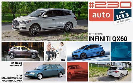Онлайн-журнал: Электрокар, который захотят все, тест Infiniti QX60 и 10 самых популярных нерастаможенных тачек на AUTO.RIA