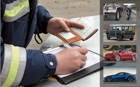 Важное за неделю: борьба со штрафами «на месте», придорожный техосмотр, авто с гарантией 100 лет, «Тесломания» и новый цвет для Lexus