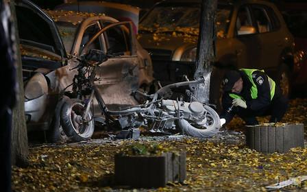 Видео. Бомба, взорванная 25 октября в Киеве, была заложена в скутере