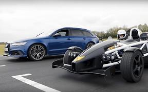 Кто быстрее? Универсал Audi RS6 сразился с Ariel Atom