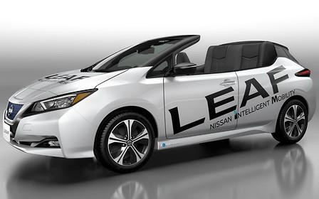 Кабриолет Nissan Leaf представили аккурат к летнему сезону. Но есть нюанс