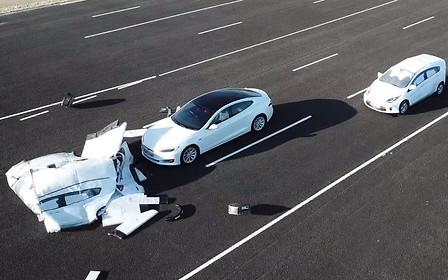 Видео: в Англии воссоздали ситуацию, в которой ошибка автопилота приводит к ДТП