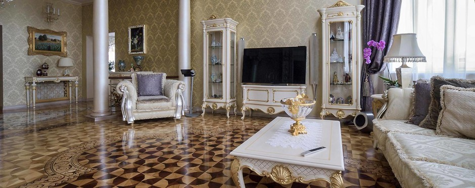 дизайн гостинной в классическом стиле фото